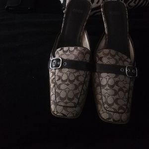 Coach mule shoe